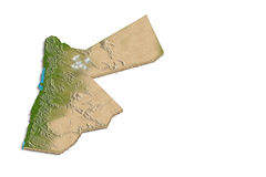 Jordan 3D map Royalty Free Stock Photos
