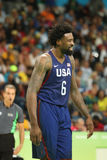 Jordan DeAndre numero 6 del gruppo Stati Uniti nell'azione durante la partita di pallacanestro del gruppo A fra il gruppo U.S.A.  immagine stock libera da diritti