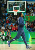 Jordan DeAndre of team United States warms up for group A basketball match between Team USA and Australia of the Rio 2016. RIO DE JANEIRO, BRAZIL - AUGUST 10 Royalty Free Stock Photography