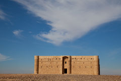 Jordan, desert castle Royalty Free Stock Images