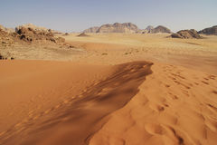 Jordan: Dune in Wadi Rum Stock Images