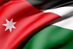 Jordan Flag Fotografia Stock Libera da Diritti