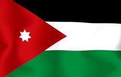 Jordan Flag. Flag jordan waving with highly detailed textile texture pattern stock illustration