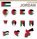 Jordan Flag Collection illustrazione vettoriale