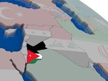 Jordan with flag Stock Image