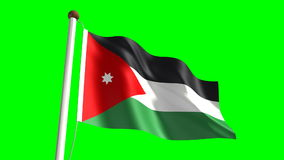 Jordan flag stock footage