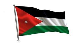 Jordan Flag Uma série de bandeiras do ` do mundo ` O país - bandeira de Jordânia Imagens de Stock Royalty Free