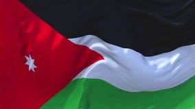 Jordan Flag Waving en fondo inconsútil continuo del lazo del viento libre illustration