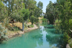 jordan flod Arkivfoto