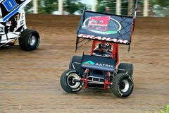 Jordan Graham Outlaw Sprint Car Fotos de archivo libres de regalías