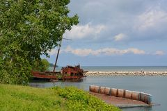 Jordan Harbour shipwreck Stock Photo