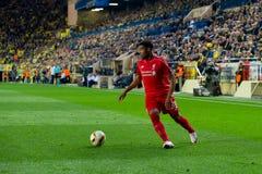 Jordan Ibe-spelen bij de Europa gelijke van de Ligahalve finale tussen Villarreal CF en Liverpool FC Stock Afbeelding