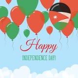 Jordan Independence Day Flat Greeting kort Vektor Illustrationer
