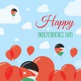 Jordan Independence Day Flat Patriotic-Ontwerp Royalty-vrije Stock Foto's