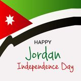 Jordan Independence Day ilustração royalty free