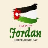 Jordan Independence Day ilustração stock