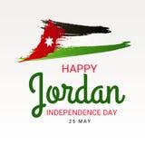 Jordan Independence Day ilustração do vetor