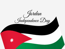 Jordan Independence Day. Jordan flag celebration banner. Vector Stock Photos