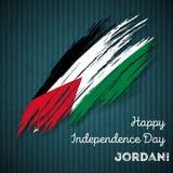 Jordan Independence Day Patriotic Design Fotografie Stock