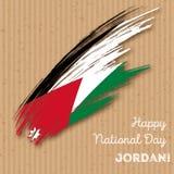 Jordan Independence Day Patriotic Design Immagini Stock