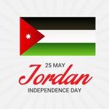 Jordan Independence Day. Vector illustration of a Banner for Jordan Independence Day Stock Photo