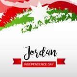 Jordan Independence Day. Vector illustration of a Banner for Jordan Independence Day Stock Image