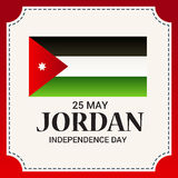 Jordan Independence Day. Vector illustration of a Banner for Jordan Independence Day Royalty Free Stock Images