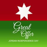 Jordan Independence Day. Vector illustration of a Banner for Jordan Independence Day Royalty Free Stock Photo