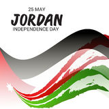 Jordan Independence Day. Vector illustration of a Banner for Jordan Independence Day Royalty Free Stock Photography