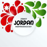 Jordan Independence Day. Vector illustration of a Banner for Jordan Independence Day Royalty Free Stock Photos
