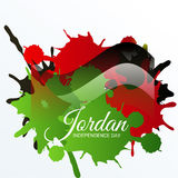 Jordan Independence Day. Vector illustration of a Banner for Jordan Independence Day Royalty Free Stock Image