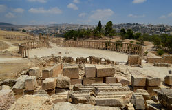 Jordan Jerash. Jerash has developed dramatically in the last century with the growing importance of the tourism industry to the city. Jerash is now the second Royalty Free Stock Photo