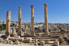 Jordan -  Jerash ruins Royalty Free Stock Photos