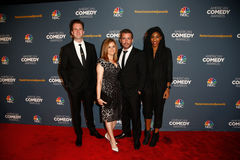 Jordan Klepper, Samantha Bee, Jason Jones, Jessica Williams photo libre de droits