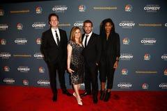Jordan Klepper Samantha Bee, Jason Jones, Jessica Williams royaltyfri foto