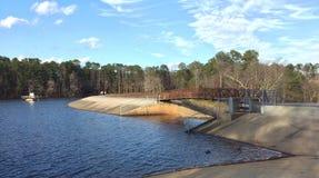 Jordan Lake Dam Stock Afbeeldingen
