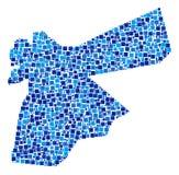 Jordan Map Composition van Vierkanten royalty-vrije illustratie