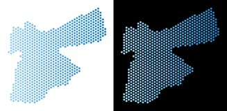 Jordan Map Hexagonal Abstraction ilustração stock