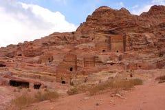 jordan nabatean petra Royaltyfria Bilder