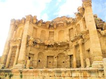 Jordan. The Nymphaeum in Jerash, Jordan. Jerash is the site of the ruins of the Greco Roman city of Gerasa Stock Photos