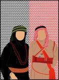 Jordan & Palestine Stand. Its about Jordanian and Palestinian dress Royalty Free Stock Photos