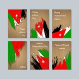 Jordan Patriotic Cards für Nationaltag Stockbilder