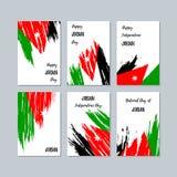 Jordan Patriotic Cards voor Nationale Dag Stock Foto