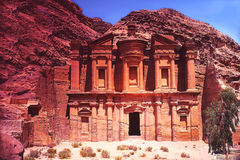 Jordan. Petra. Jordan ancient building in Petra Stock Photography
