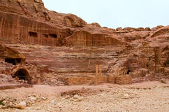 Jordan, Petra, amphitheater Stock Photo