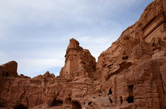 Jordan, Petra, the ancient city in the rocks Stock Images