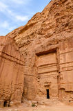 Jordan, Petra, the ancient city in the rocks Royalty Free Stock Photography