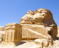 Jordan Petra Ancient Tombs. Under the blue sky Stock Photo