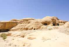 Jordan Petra Caves. Tombs in Petra ancient city. Jordan Stock Image