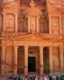 jordan petra-kassa Royaltyfri Fotografi